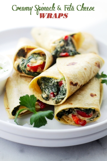 Creamy-Spinach-and-Feta-Cheese-Wraps